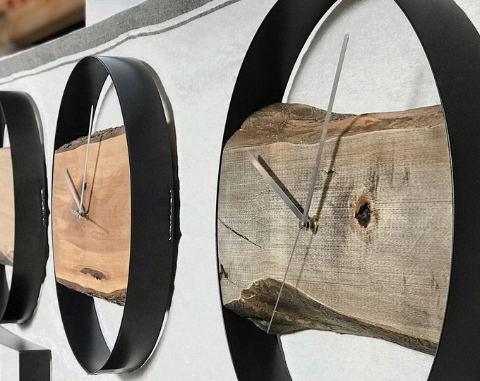 Featured listing image: Customize your own round live edge minimalist clock