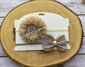 Baby headband set, fancy headband, elegant headband, ready to ship
