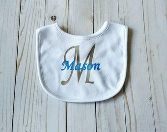 Personalized baby bib - boy bibs - new baby gift - custom bibs - baby  shower gift - baby gift for boy - monogrammed bib - custom baby gift d64895f187fe