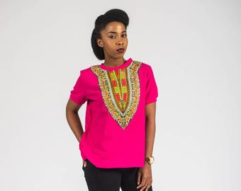 Women's African Dashiki Print T-shirt