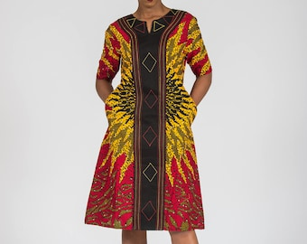 Stoned with Embroidery Shift Dress