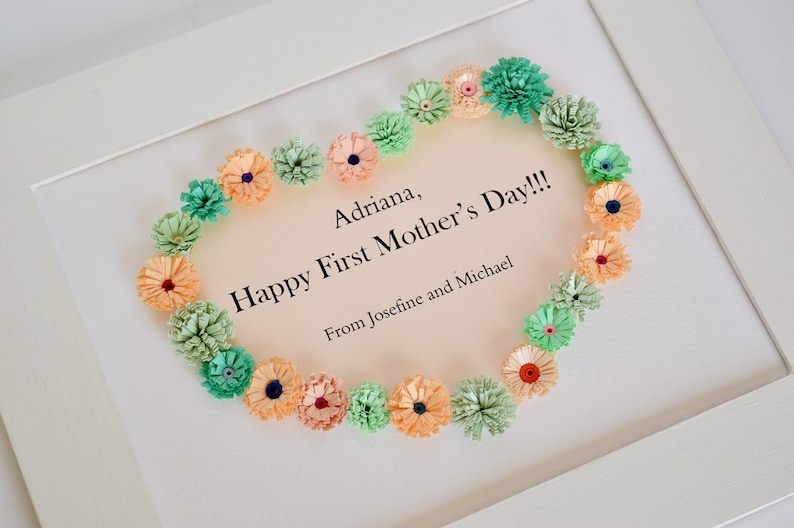 Romantic Gift for New mom, Gift For Her, Personalized Heart Decor, Nana  gift, I Love You Mom, Gift for mummy, Teacher Gift
