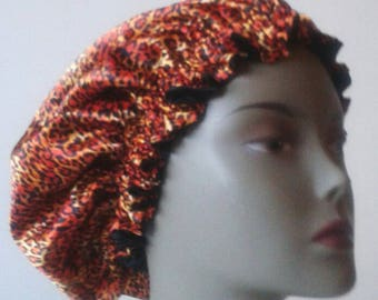 Satin bonnet, lined silk