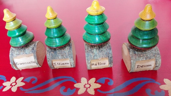 christmas trees spinning customizable with name for the etsy