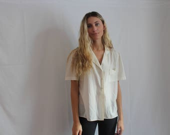 50% off ! white sheer button up