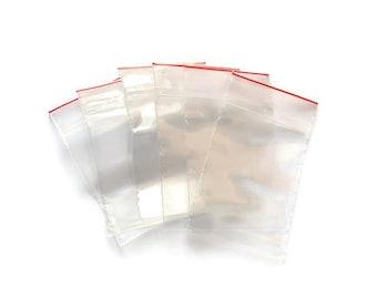 Transparent plastic bags x 100