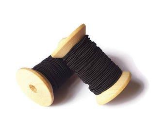 Black elastic thread 1 mm