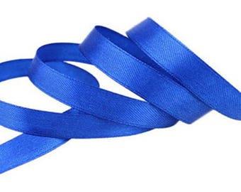 12mm electric blue satin ribbon