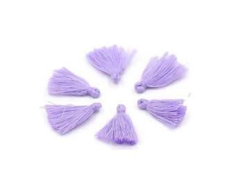 Purple cotton tassel