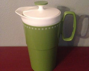 Vintage Mid Century/MCM Green Thermoware Pitcher by New-Mar