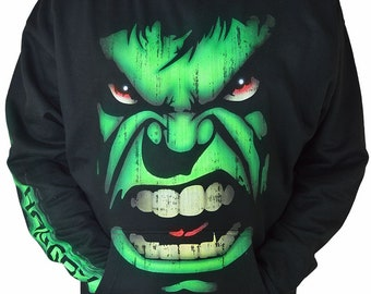 Custom Airbrushed HULK Hoodie Gamer Gifts Personalized with Name or Gamertag