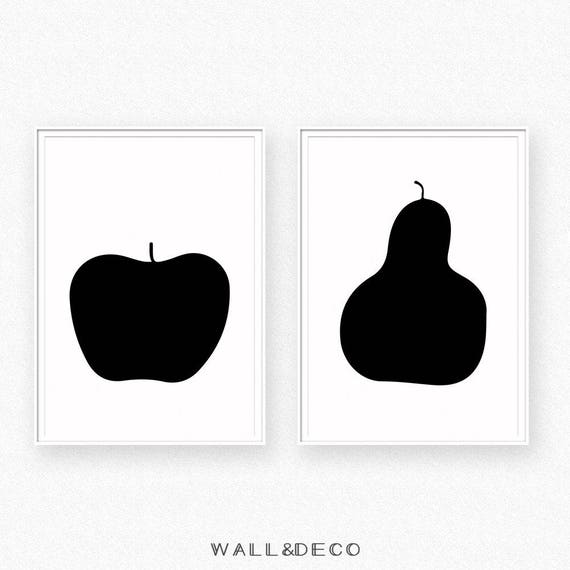 apple and pear apple and pear wall art apple print