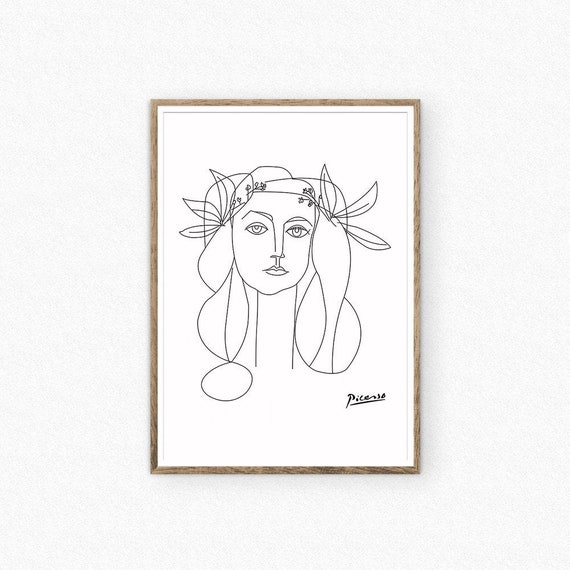 Picasso print Picasso sketch print Picasso wall art Pablo | Etsy