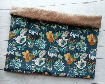 Snood femme hiver, echarpe tube, tour de cou, polaire, coton,fleurs ,marine,  camel, moutarde,beige , snood 6e661bad226
