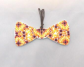 XL Jersey Knit Bow Petite Pink Floral Bows JKB-037