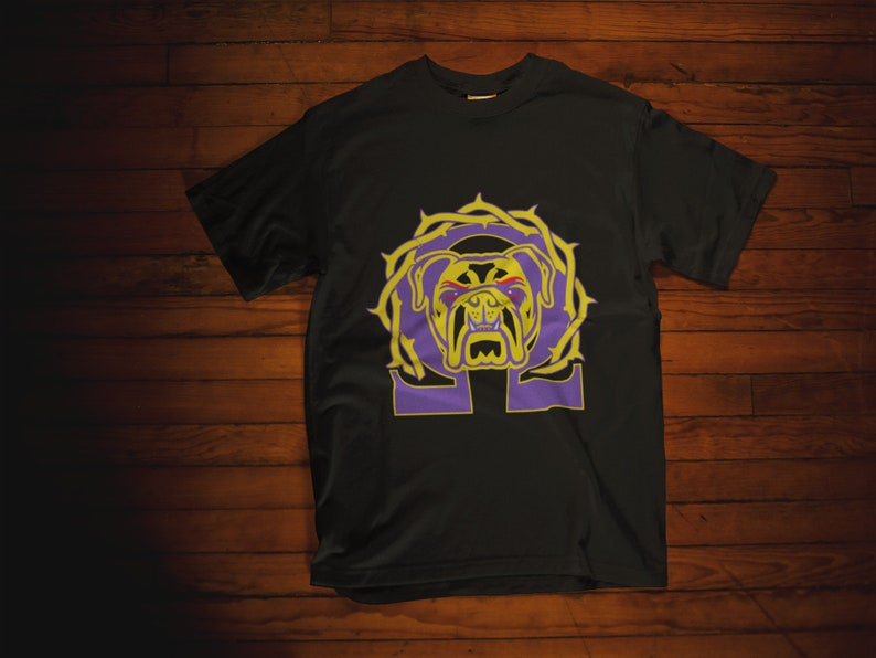 b851f641b447f Omega Psi Phi Shirts   Que Dawg Fraternity Purple and Gold