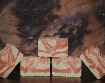 Candy Cane rustic peppermint bar soap