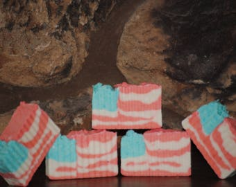 American Pie rustic homemade apple scented soap