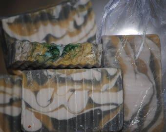 Frankincense and Myrrh rustic bar soap