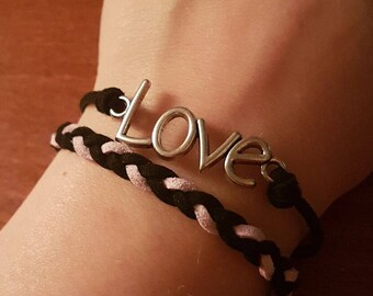 Love leather braclet