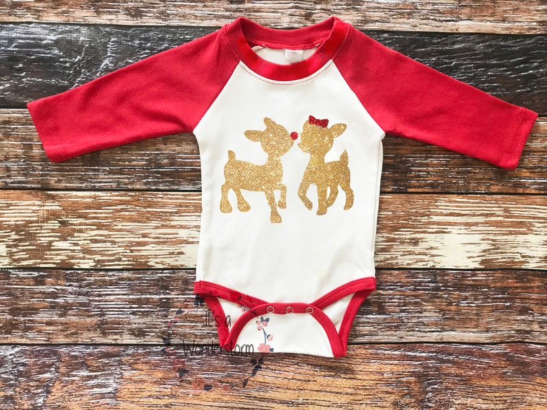 c4fdb0dde Reindeer inspired baby outfit baby girl Christmas outfit | Etsy