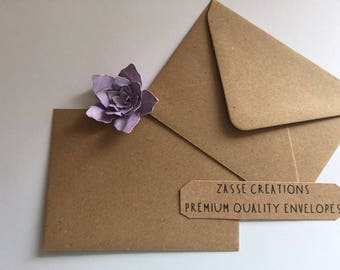 Brown Kraft Fleck Premium Quality Envelopes 100gsm Greeting Cards/Craft/Wedding - Qty's 10 - 1000 & in 6 Different Sizes