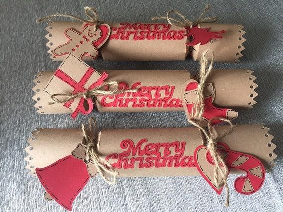 Cracker decorativi di Natale fatti a mano