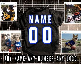 Dog Jersey | Custom dog clothes | Personalized dog shirts | Custom pet shirt | Dog clothes | College dog jersey