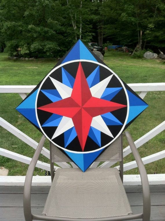 Mariners Compass of Maine Barn Quilt Indoor Outdoor  959e66a33