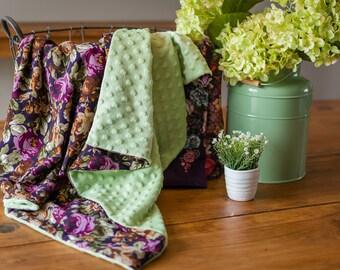 Autumn flowers baby blanket