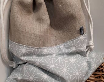 Bag in linen lingerie / Underwear bag