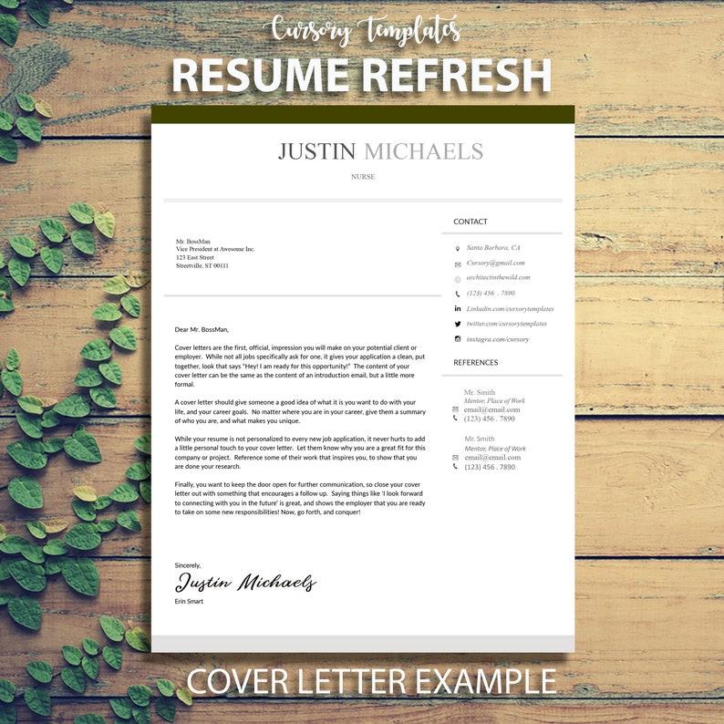 Professional Resume Refresh Resume Print Editable Resume Free Sample Resume Template Creative Digital Download Download Printable