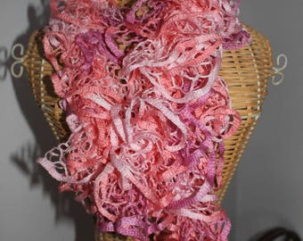 scarf shades of pink
