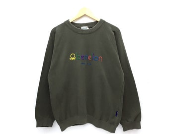 1d77e10bc45 United Color Of Benetton Multicolor Spellout Big Logo Embroidery Sweatshirt  Jumper Pullover Sweater Hoodies Jacket Crewneck