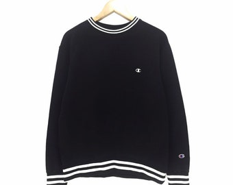 725c0e1110af Vintage Champion Sweatshirt Champion Small Logo Spell Out Embroidery  Pullover Jumper Sweater Hoodies Crewneck Jacket Windbreaker