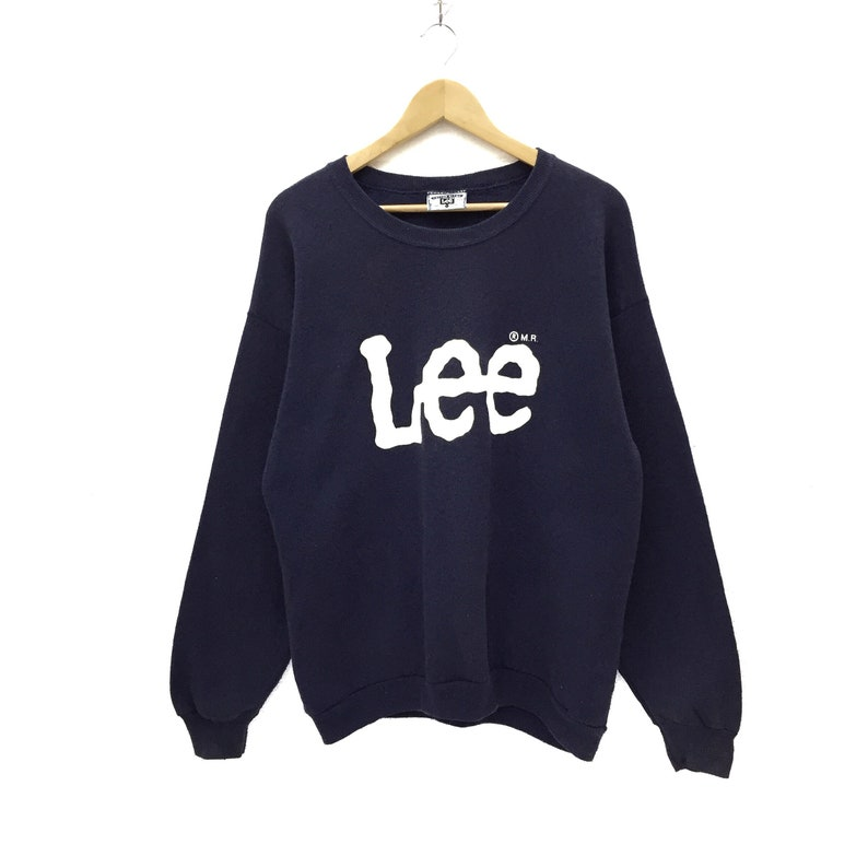 9ed85f64ed338 RARE!! Vintage Lee Spellout Sweatshirt Jumper Pullover Sweater Hoodies Made  In USA