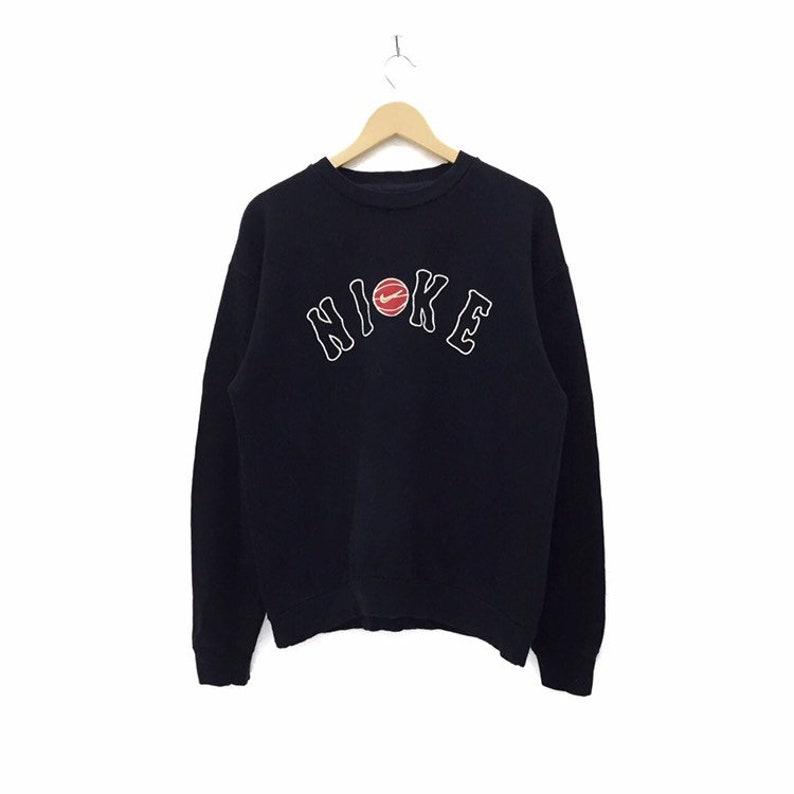 25d6f2c0769e RARE Vintage Nike Big Logo Embroidery Sweatshirt Jumper