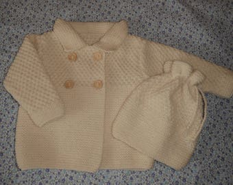 Coat and hat set / size 6 months