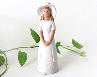 Large 12'' ceramic woman in a hat figurine by JIE GANTOFTA | Mid Century Modern pottery, scandinavian design