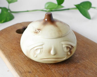Vintage Sylvac onion jar 516 | Retro Kitsch, 60s, face pot