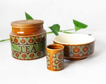 Hornsea Bronte - tea jar, cereal bowl anda  small dish | for sale separately