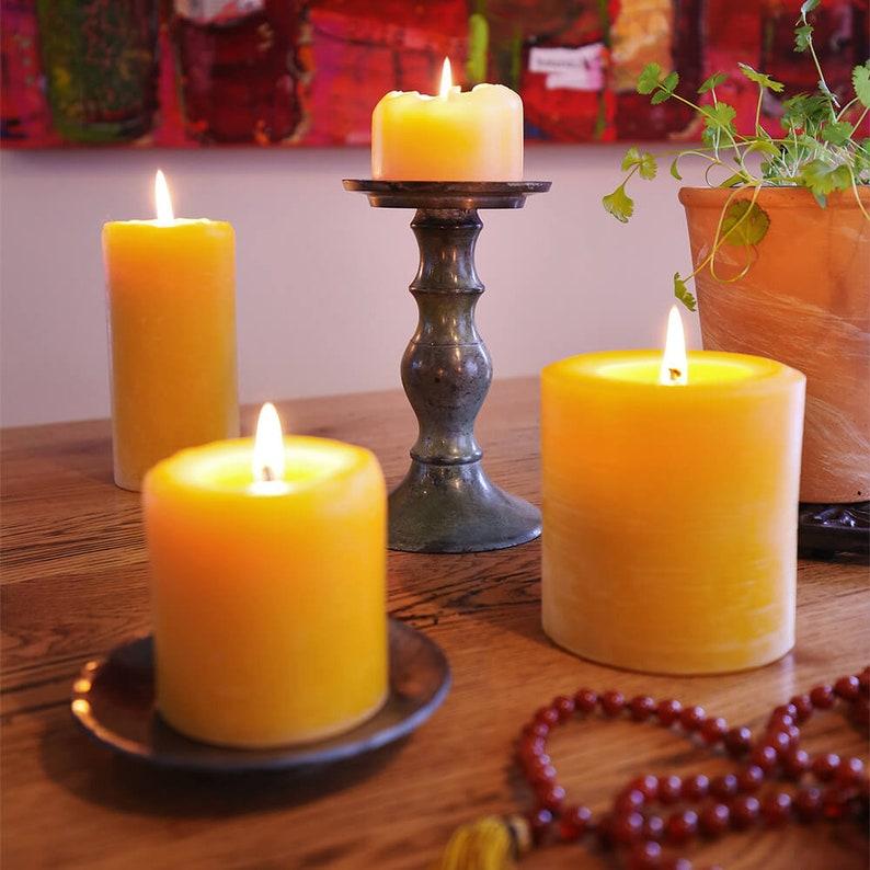 Pure Beeswax Pillar Candles Various Sizes