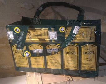 Recycled coffee bags tote bag