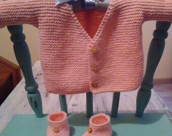 set of baby pink cotton blend