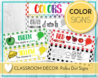color posters colour posters teaching colors learning etsy