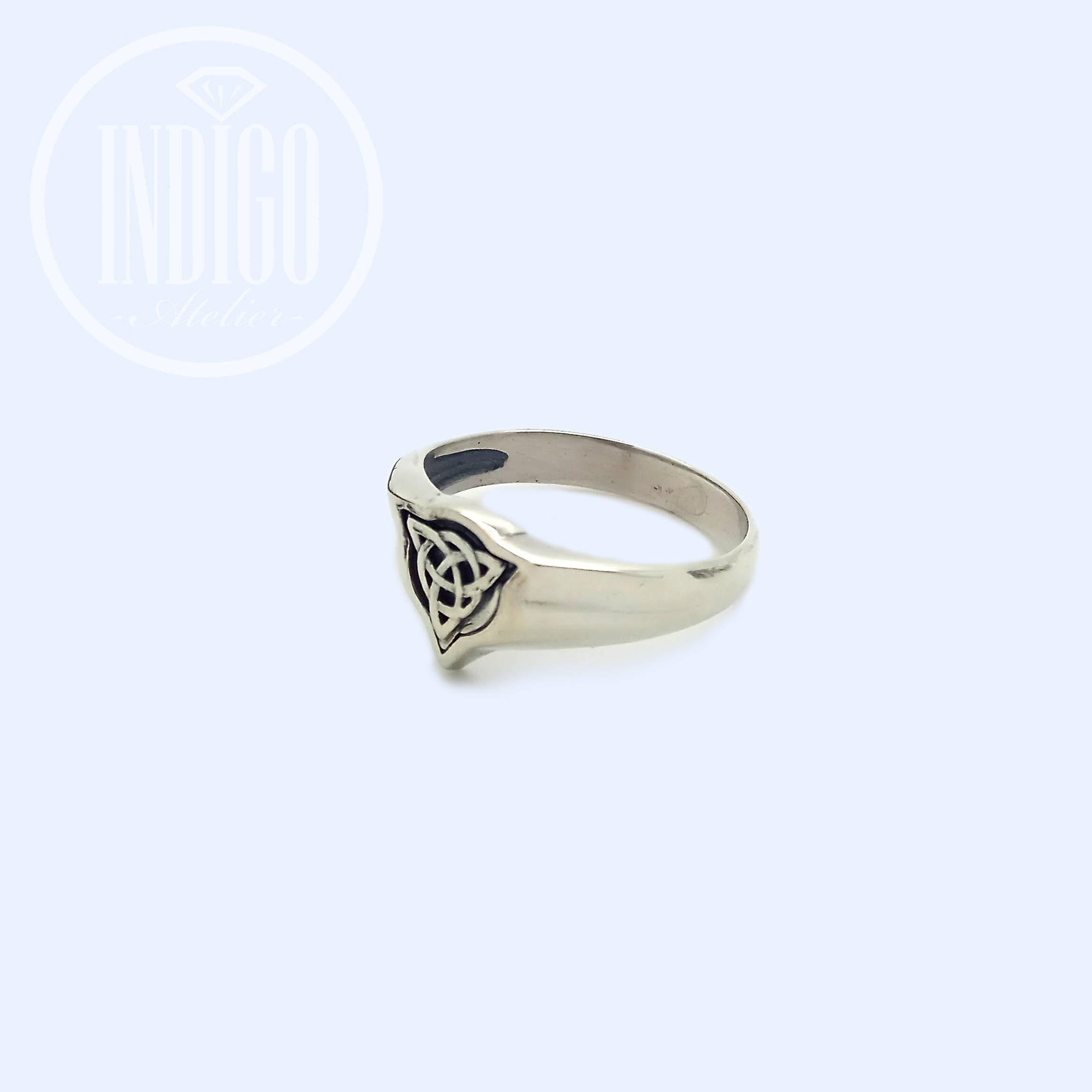 Three Leaf Clover Celtic Irish Symbol Ring Sterling Silver 925 Sku30267