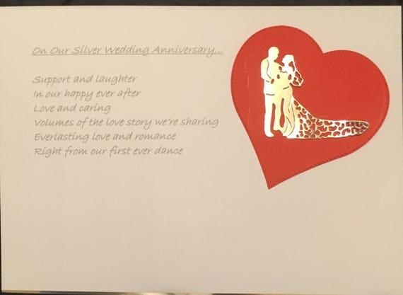 wedding gift silver wedding anniversary poem on canvas etsy