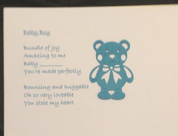 Baby Boy Poem On A4 Canvas Baby Poem Canvas Gift Baby Boy Etsy
