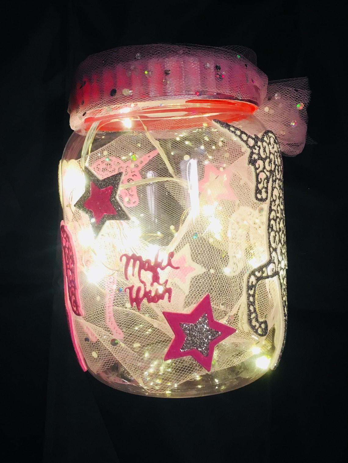 Unicorn Night Light Unicorn Gift Fairy Lights Fairy Jar Unicorn Jar Make A Wish Jar Unicorn
