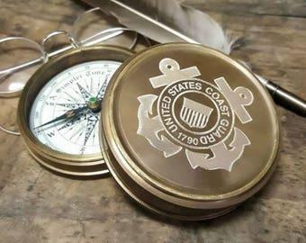 Engraved Coast Guard Compass